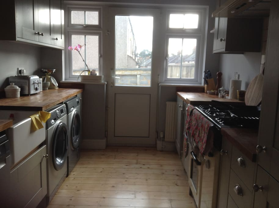 Gorgeous large kitchen with all modern amenities including microwave and coffee machine
