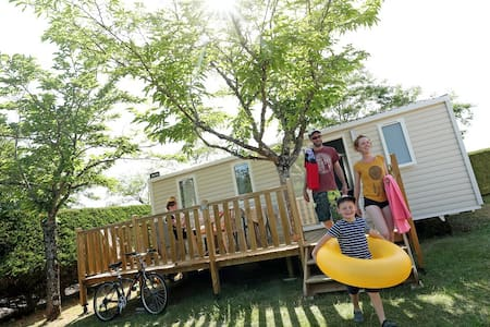 Mobilhome Famille, camping avec piscine couverte