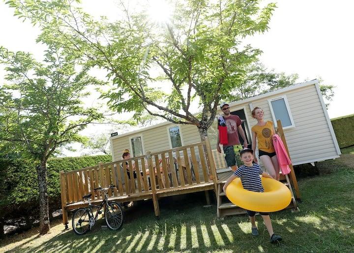 Mobilhome Famille, camping avec piscine couverte