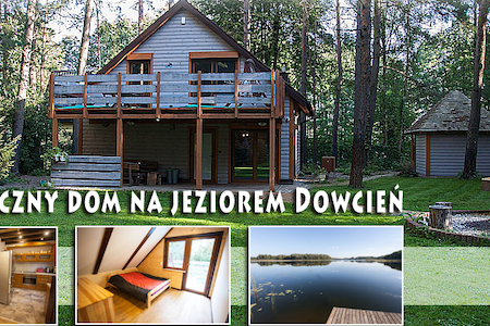Dom  z bala nad jeziorem  Dowcień