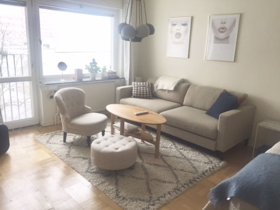 Comfortable apartment in stockholm kungsholmen for Sofa bed 140cm wide