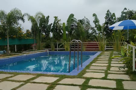 Farm house stay-swimming Pool near Hyderabad