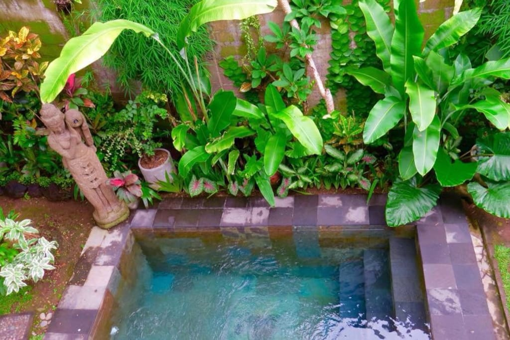 Garden paradise private pool villa villen zur miete in for Garden pool villa ubud