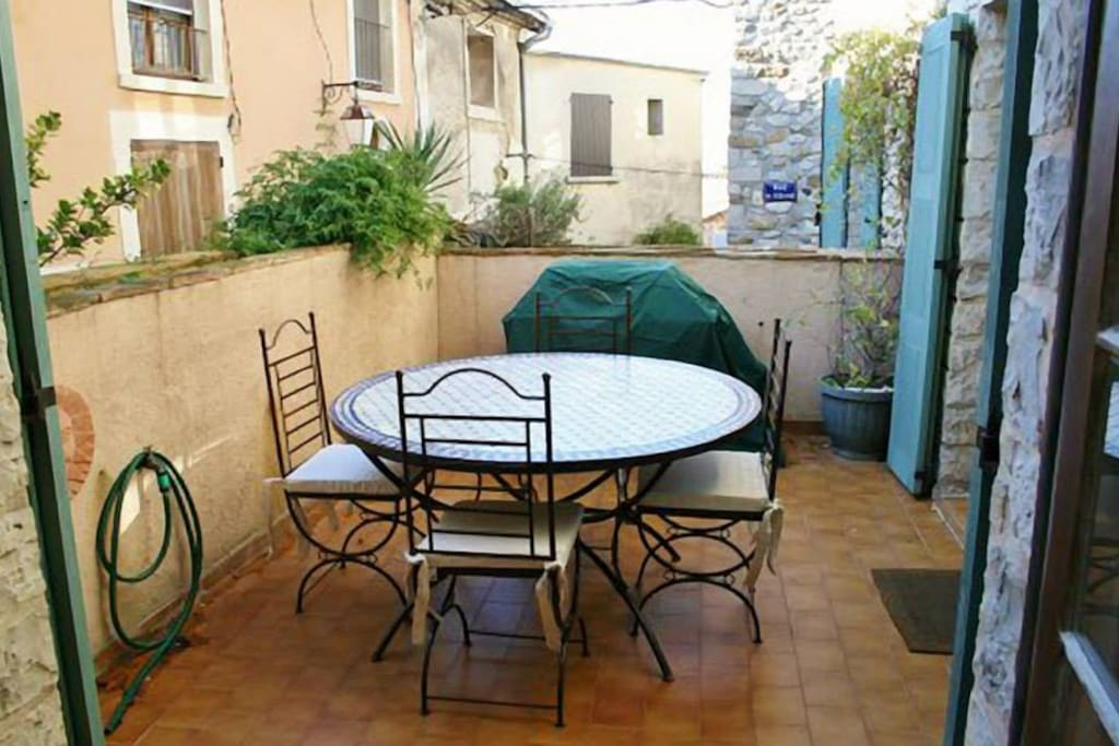 Terrace with gas stove off the kitchen