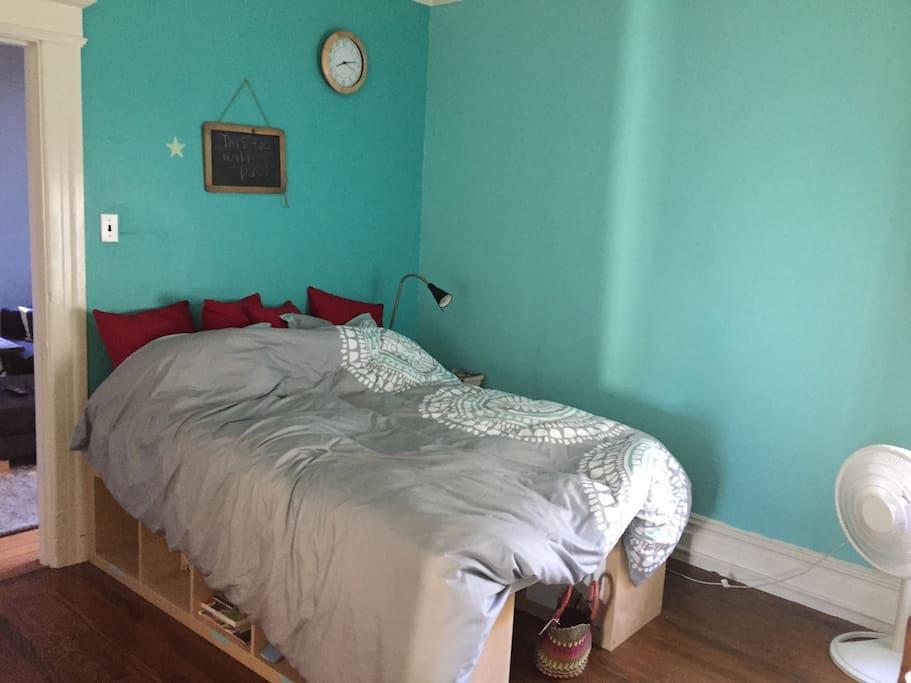 Double bed in third bedroom