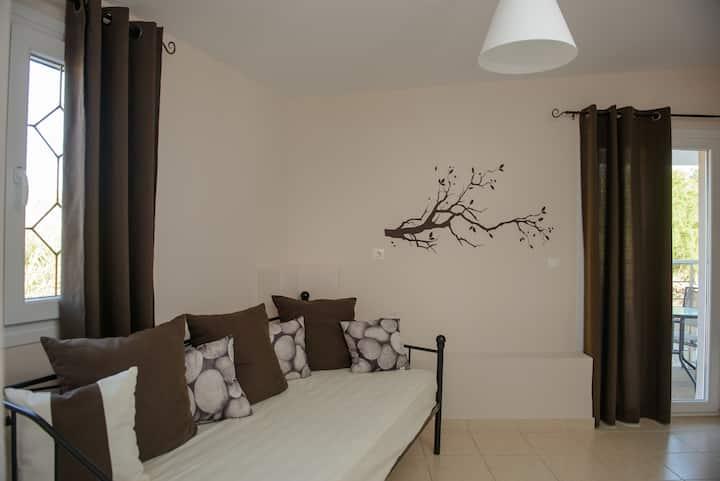 Milos: brown apartment