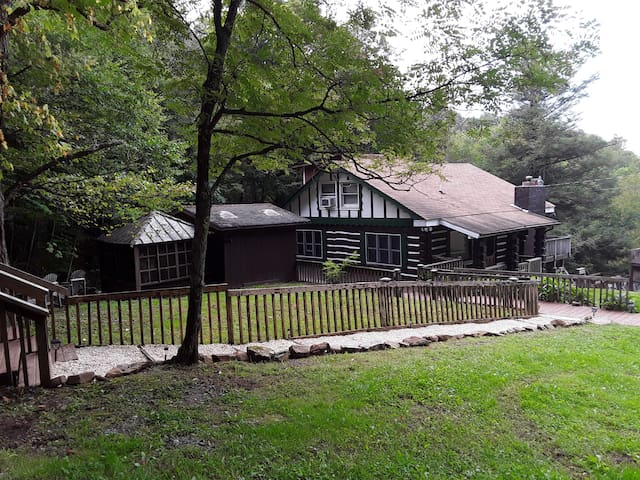 Cabin with high elevation and creek frontage