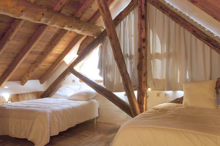 Chambre familiale Moulin 4 pers - Villar-Saint-Pancrace