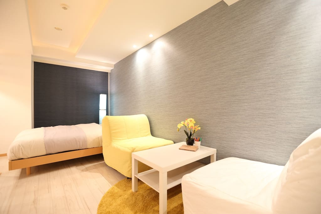 2 comfortable sofa beds can be one large bed on level 2