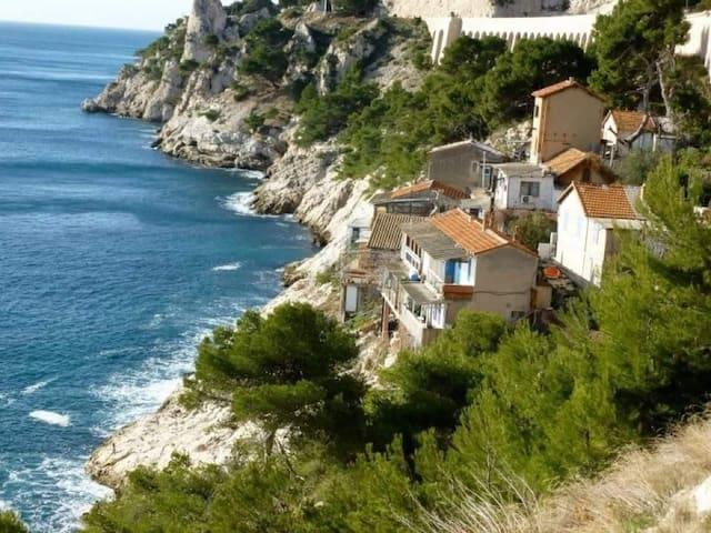Chambre 1 Mer Colline site insolite 5mn Marseille - Le Rove