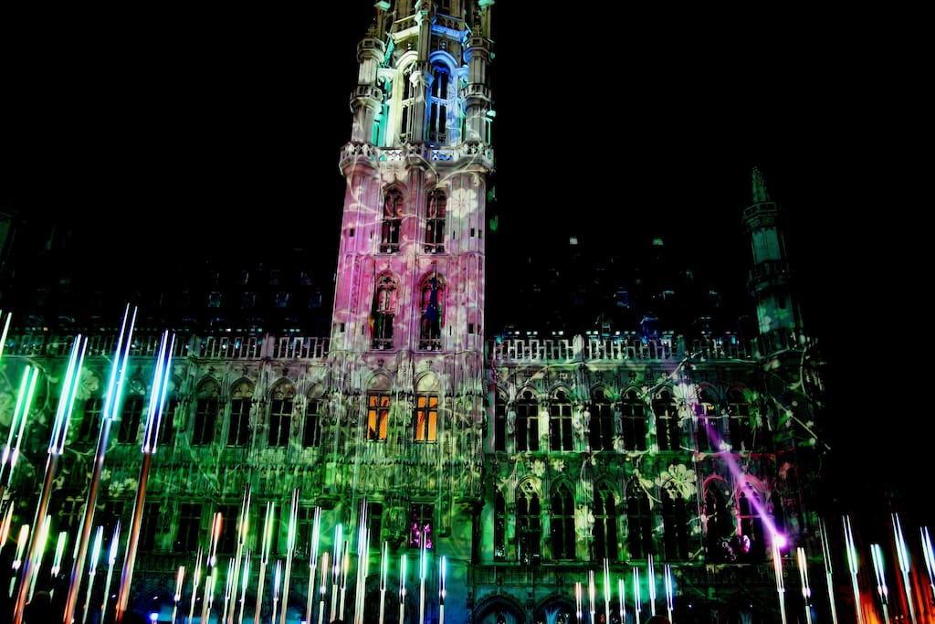 Christmas in Brussels Grand Place.