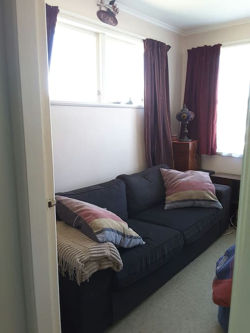 Bedroom comes with a super comfy couch