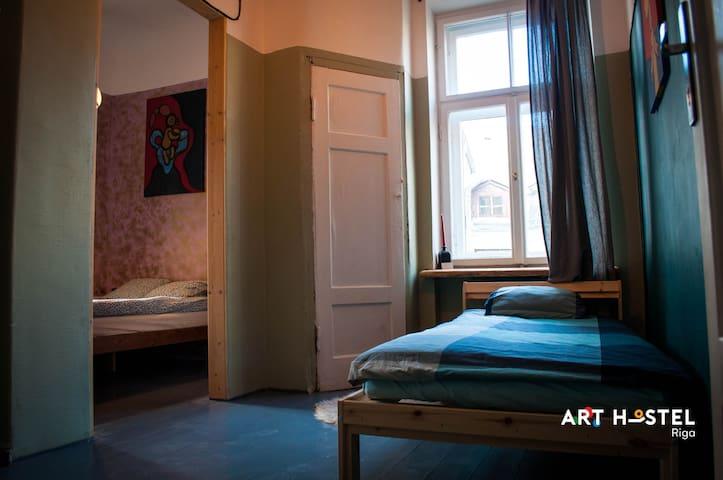 Family room in Riga Art hostel.