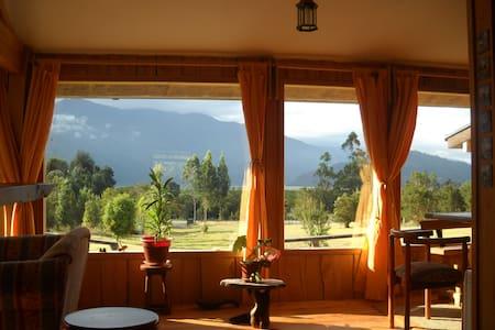 Lodge tranquile avec une jolie vue