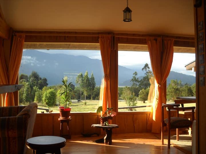 Lodge grande con vista espectacular