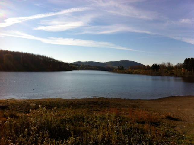 Leaser lake. Located 1 mile from guest house.
