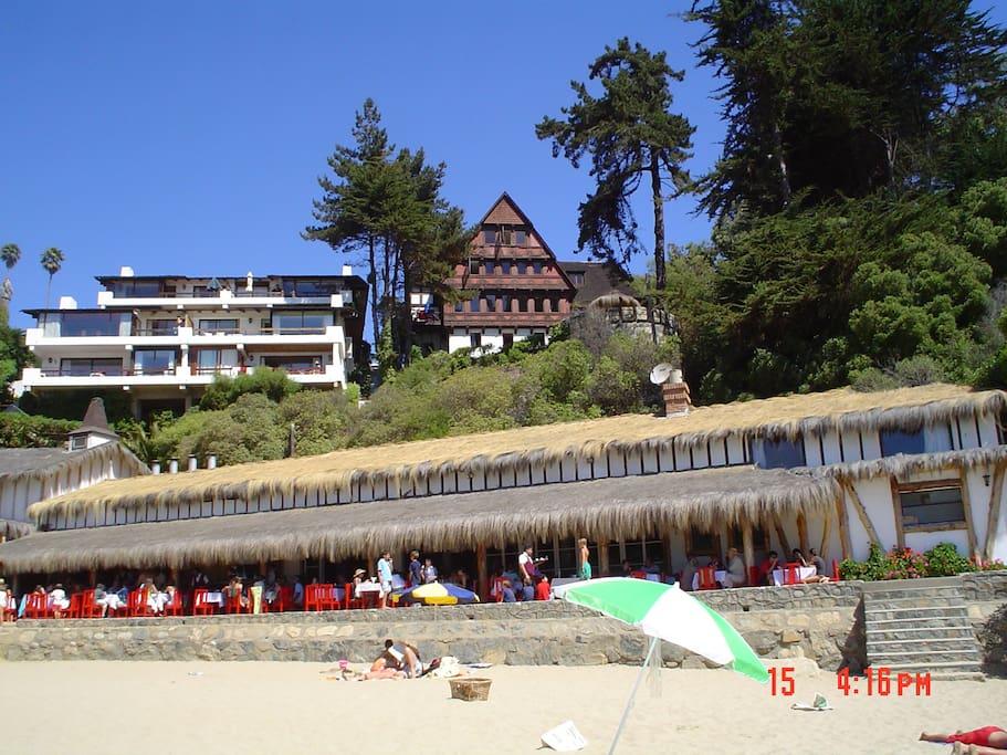 Vista desde la playa