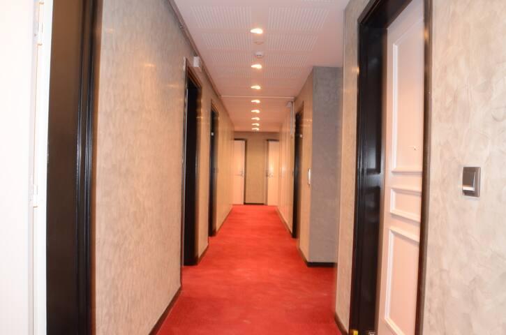 Couloir  Appart 138 3 eme etage Ascenceur Norme Handicapé