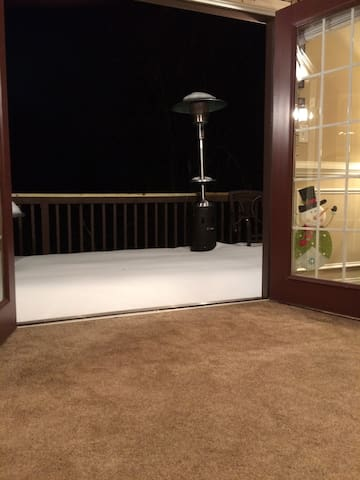 View from Bill-co Doors in Living room.