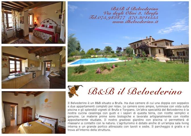 Casale IL BELVEDERINO - Brufa - วิลล่า