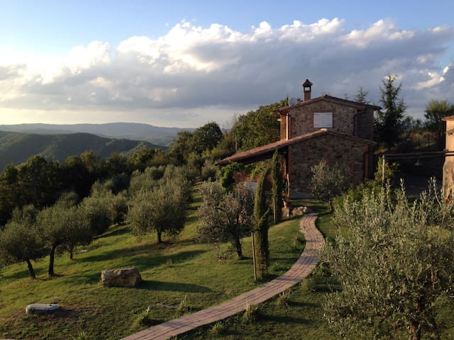 Panoramic country House & pool - San Venanzo - Huis