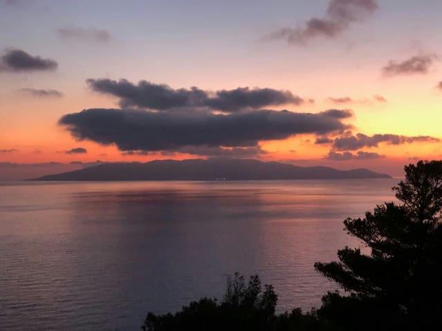 Tuscany Romantic Sea Coast,Arcipelago view