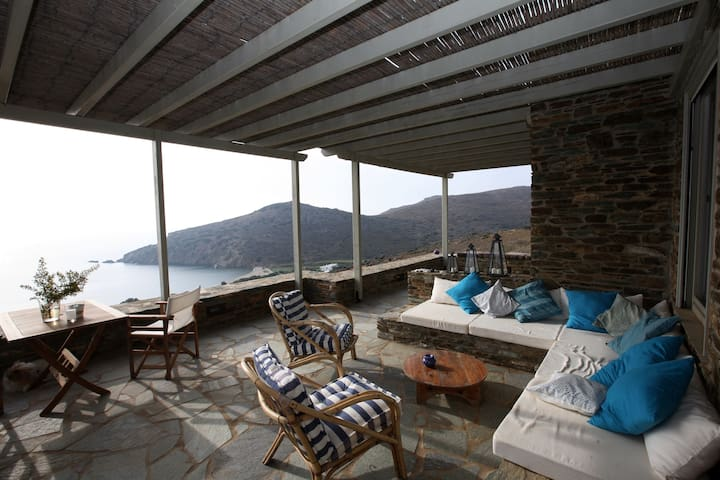 Fellos stone house with view  - Andros - Villa