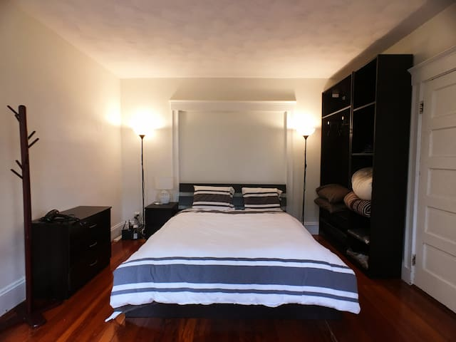 Master bedroom in a quiet area with Queen Bed!