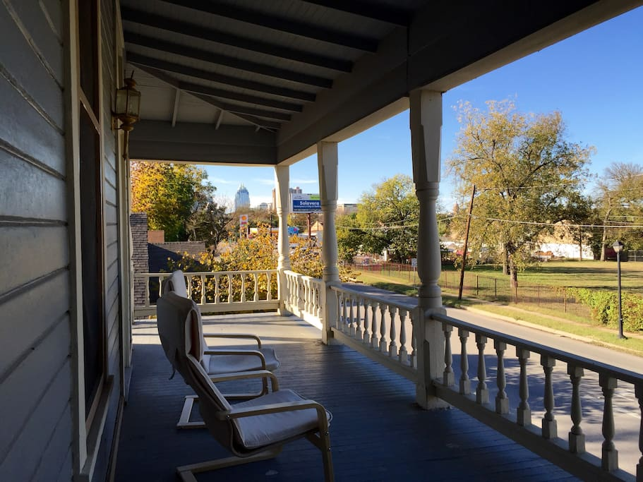 Porch views of downtown and the Capitol building