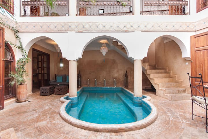 Lovely Riad privatisé pool&WIFI - Marakesz - Szeregowiec