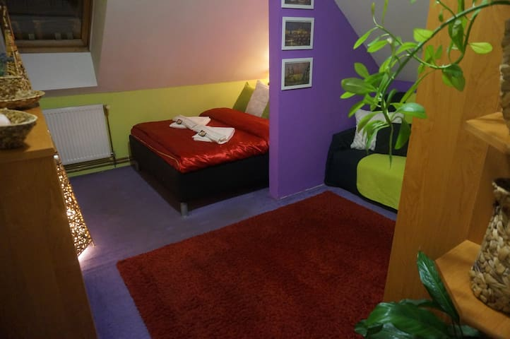 Cozy private roof room 15min centre - Praga - Loft