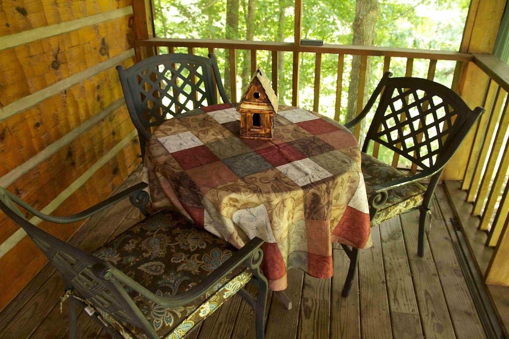 Screen porch for relaxing and eating breakfast