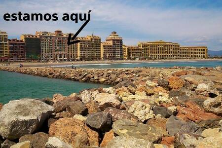 Beachfront apartment in Valencia, Port Saplaya. - Port Saplaya - 公寓