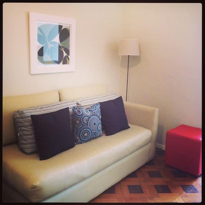 Detalhe  sala.