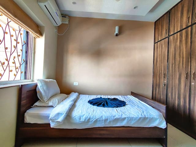 Room 1 ( with full length wardrobe and double bed)
