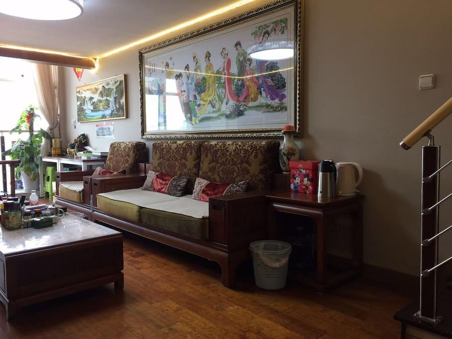 客厅中式豪华装修