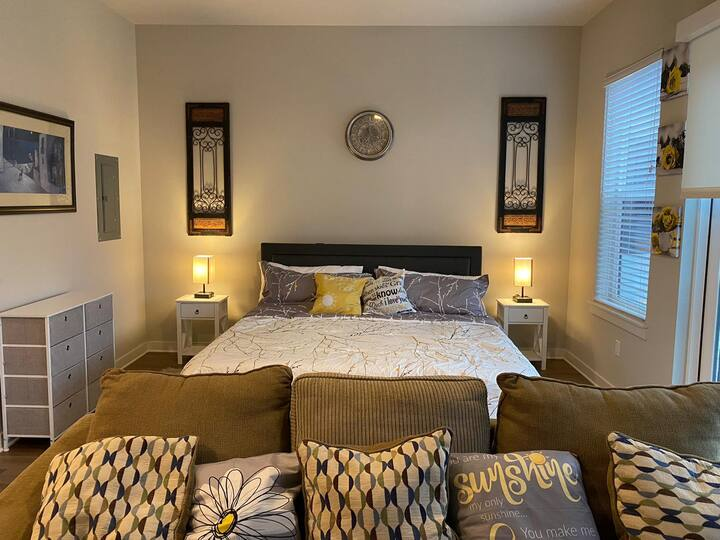 King Bed, Luxury Apartment, Free Parking, Gym Pool