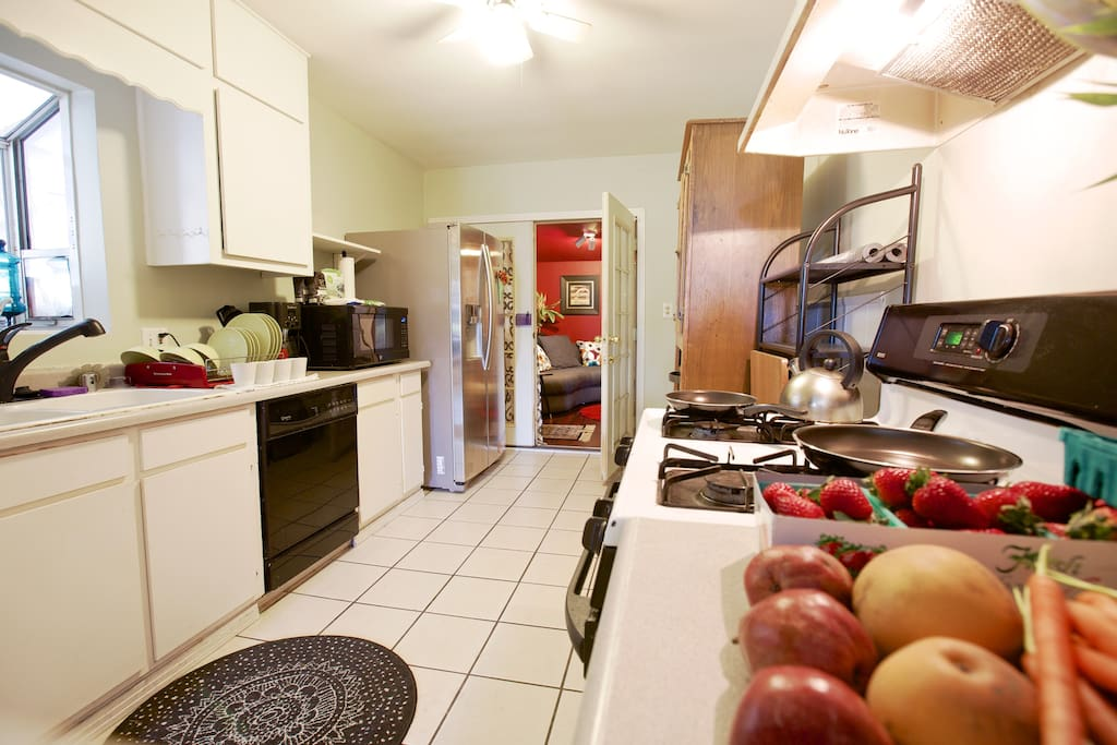 Shared kitchen with all access to cooking utensils and supplies