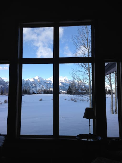 View from house living room