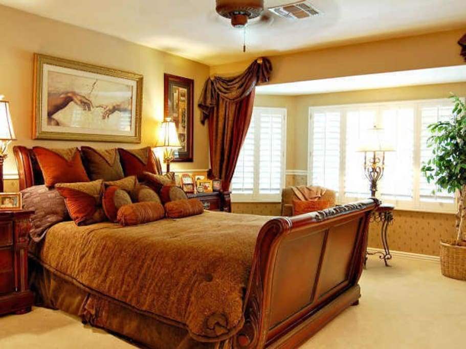 Professionally decorated and elegantly styled bedroom suites