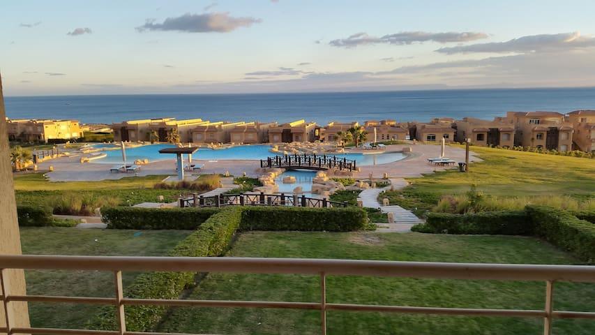 3 bedrooms Amazing sea view Chalet Telal EL Sokhna