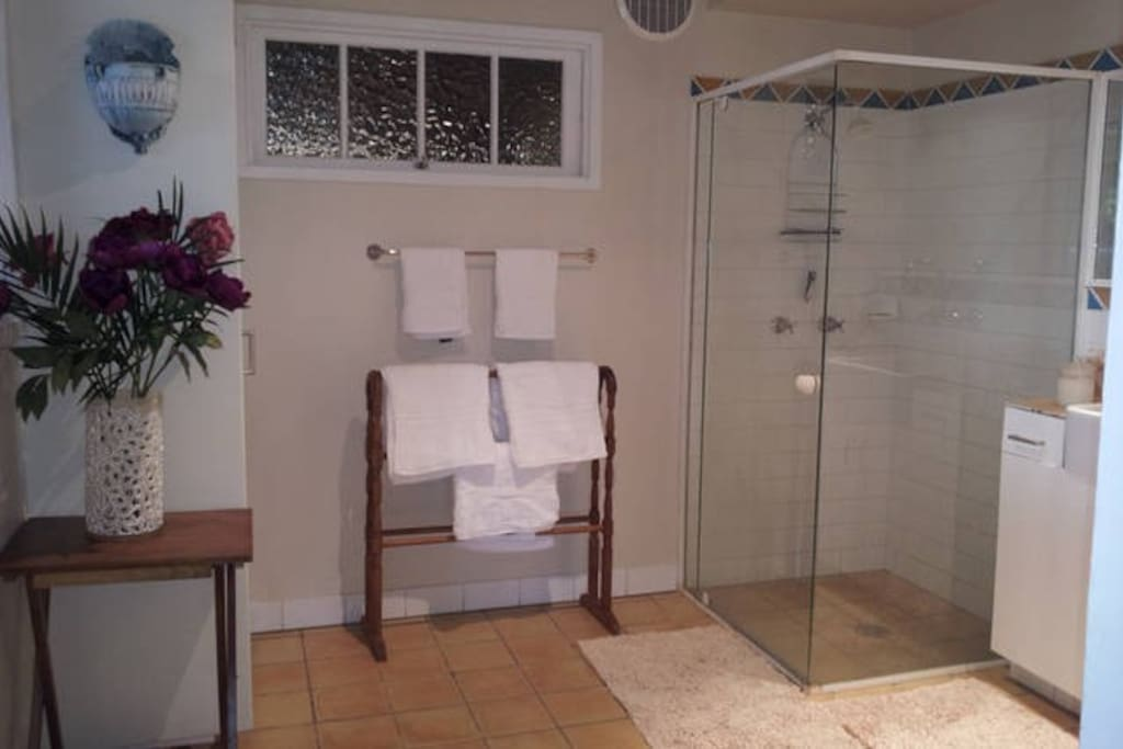 Separate airy bathroom