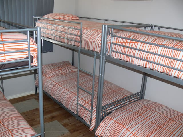Bedroom 3 with 2 sets double bunks