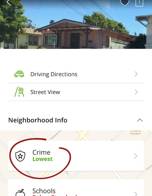From Trulia.com u can see it is the safest neighborhood