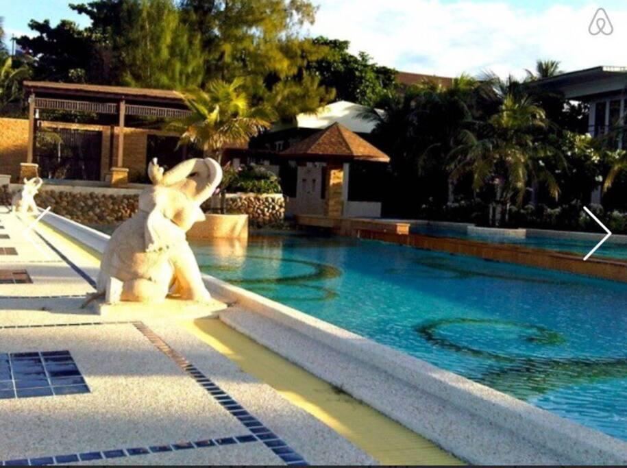 First swim pool