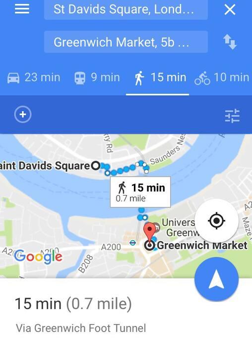 Easy walk to Greenwich