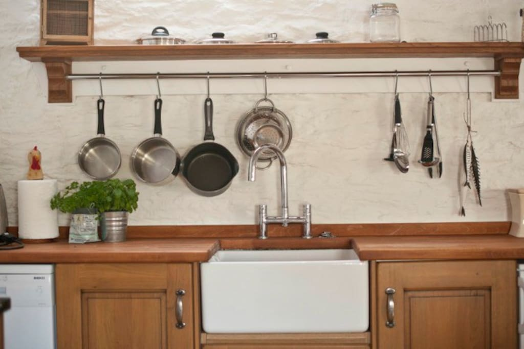 Well equipped country style kitchen