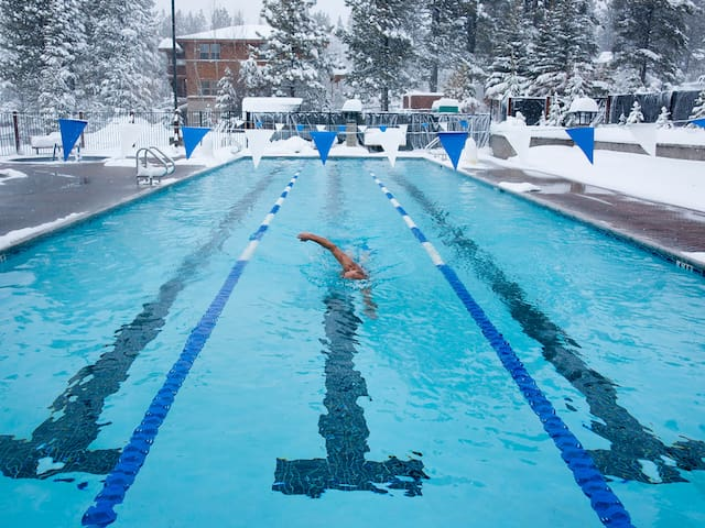 For a nominal fee, you'll have access to the luxe amenities at the Tahoe Donner Recreation Center.