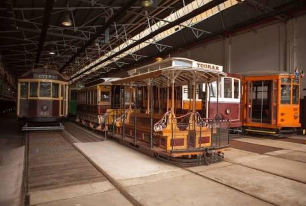 Tram Museum directly underneath