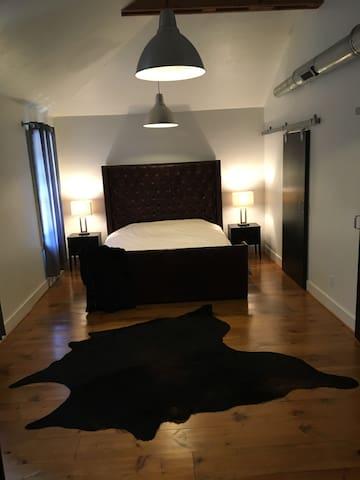 Historic Loft Home - Master Suite